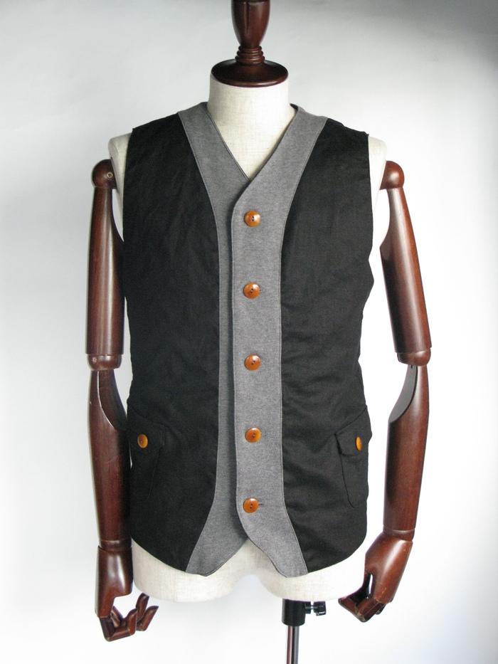 ◆Linen×Knit Tailor Vest_e0142928_1594370.jpg