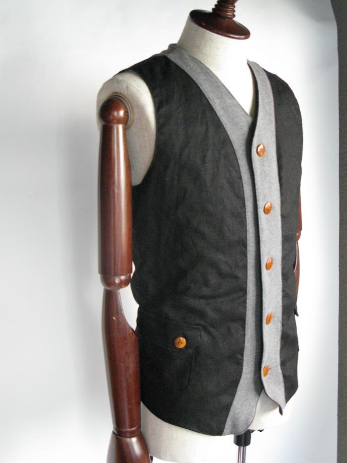 ◆Linen×Knit Tailor Vest_e0142928_1595446.jpg