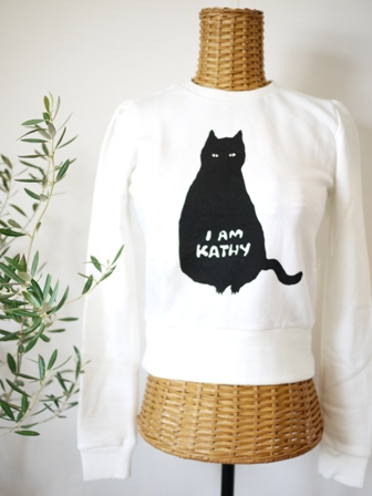 【ゆきねこ雑貨店】ぽっちゃり黒猫スウェット素材プルオーバー。_a0143140_10595923.jpg