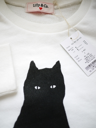 【ゆきねこ雑貨店】ぽっちゃり黒猫スウェット素材プルオーバー。_a0143140_1103052.jpg
