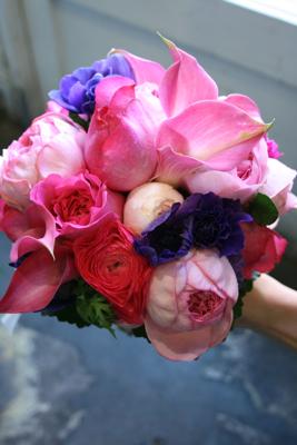 ピンク濃淡、紫mixクラッチブーケ♫_e0149863_13512291.jpg