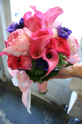 ピンク濃淡、紫mixクラッチブーケ♫_e0149863_13514759.jpg