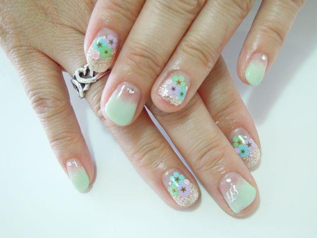 Pastel Flower Nail_a0239065_11494941.jpg