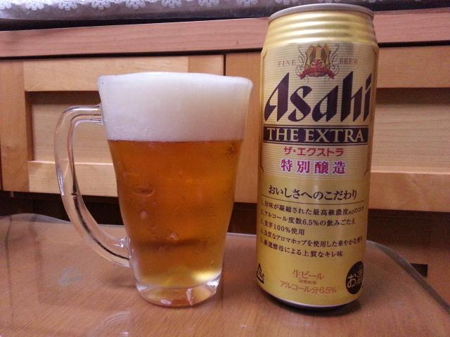 昨夜のビールVol.45 アサヒ ザ・エクストラ 500ml ¥278_b0042308_11513042.jpg