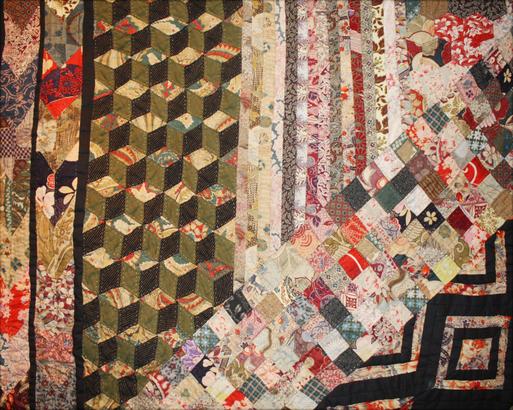 塚田純子古布遺作展はすばらしい、布に顔を近づけると音楽が聞こえる。_d0178448_15593569.jpg