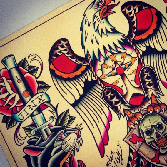 MANO  tattoo flash_c0198582_15561099.jpg