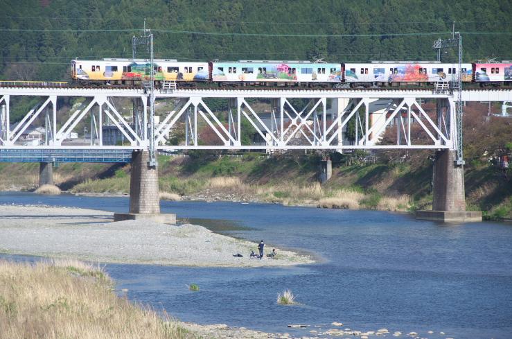 近鉄吉野線ラッピング電車_f0266284_264632.jpg