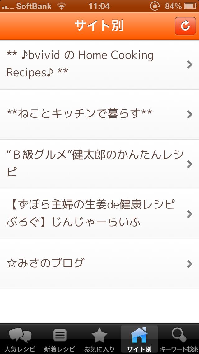 レシピまとめ サイト別レシピページ
