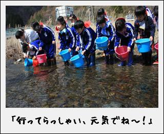 野田小学校2年生 ~鮭の稚魚放流会~_c0259934_16214739.jpg