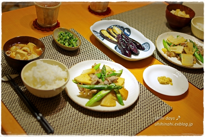 アスパラとたけのこバター醤油炒め_f0179404_2157433.jpg