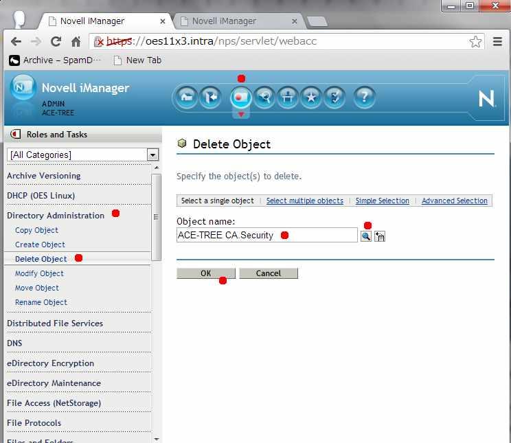 Novell eDirectory 組織認証局(CA)サーバーの移動 _a0056607_11152270.jpg