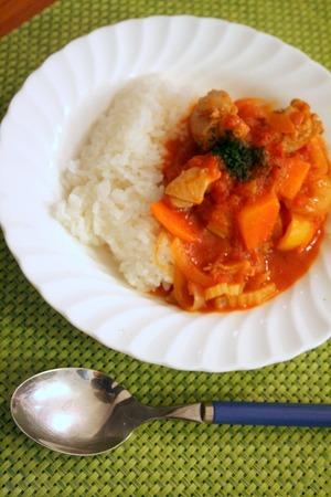 野菜たっぷり!!チキンのトマトソース煮込み_f0141419_6434025.jpg