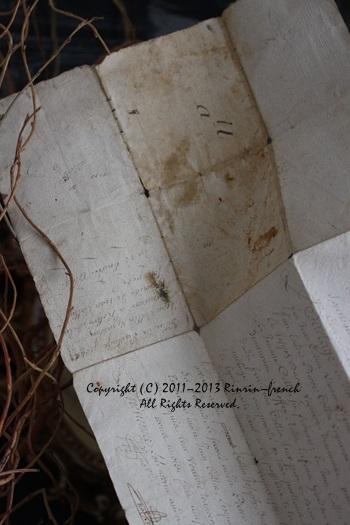大好きな古書やアンティークカードを使って・・・_e0237680_10324841.jpg
