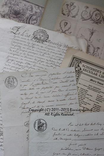 大好きな古書やアンティークカードを使って・・・_e0237680_10344554.jpg