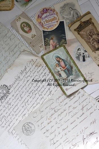大好きな古書やアンティークカードを使って・・・_e0237680_1039446.jpg