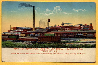 1920\'S ENDICOTT JOHNSON SHOE FACTORY WORKERS FLAMED PICTURE _c0187684_1410258.jpg