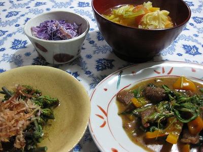 牛肉炒め、煮魚♪_f0116812_9345272.jpg