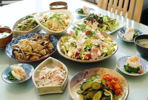 【朝ご飯です♪】竹の子ご飯/サラダ/アボガドの長芋タラコ/煮物/奴他です。_b0033423_19402668.jpg