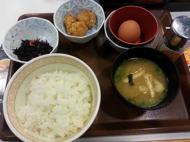 からあげ朝食並¥280@すき家飛田給店_b0042308_11301479.jpg