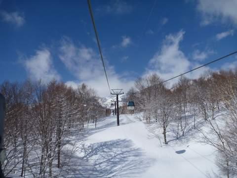 【滑走レポ 2013.4.11】 ラストパウダーを狙って@かぐら_e0037849_7405276.jpg