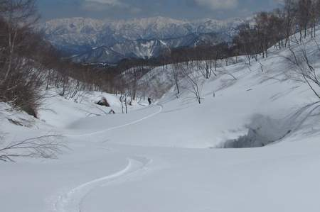 【滑走レポ 2013.4.11】 ラストパウダーを狙って@かぐら_e0037849_7575483.jpg