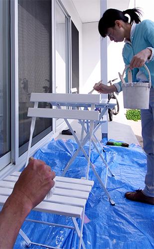 ドブカフェ -春のペンキ塗り-_a0180552_1182837.jpg