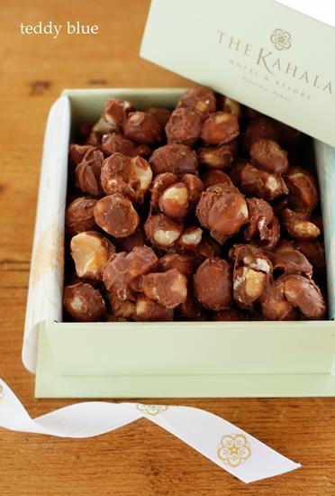 The Kahara mac nuts chocolate  カハラホテルのチョコレート_e0253364_15254636.jpg