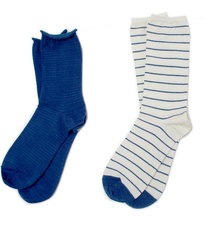 藍染め×オーガニックコットンの靴下_d0195002_1405079.jpg