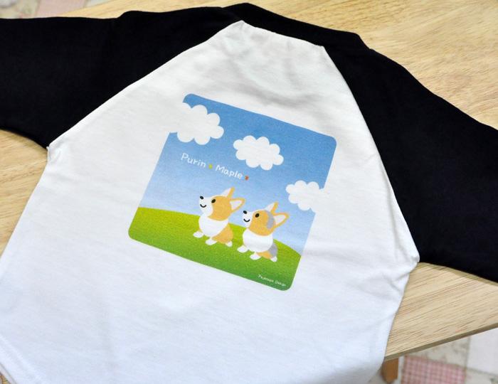 ぷりめちゃん、よもぎちゃんのベビー・ベースボールTシャツ_d0102523_14381319.jpg