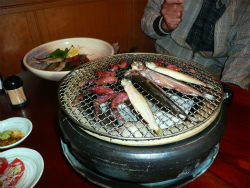 七輪焼きと冷麺_c0087349_9124243.jpg