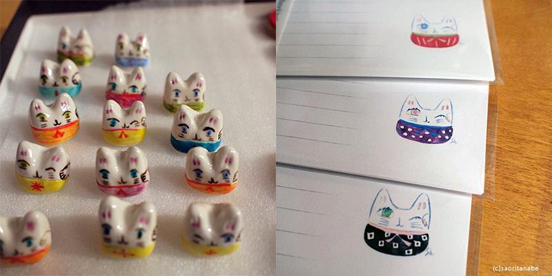 GW企画ARTHOUSE『招き猫展』『猫文具展』_f0023482_15401529.jpg