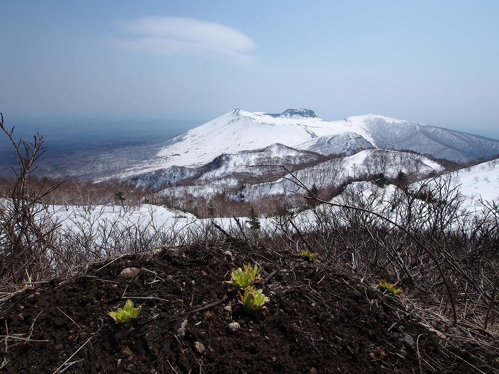 4月23日、風不死岳と樽前山_f0138096_1631312.jpg