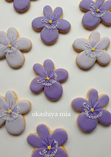 菫埜さんのスミレのクッキー。_a0274443_1623777.jpg