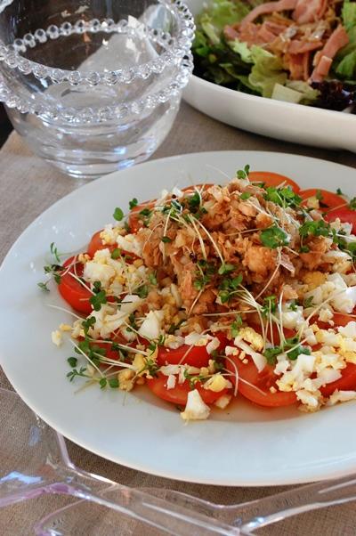 トマトと卵のカラフル元気サラダ~新玉ツナドレッシング~_d0104926_520162.jpg