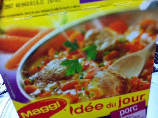 落ち込み気質とPorc au curry à la française_e0262430_17352895.jpg