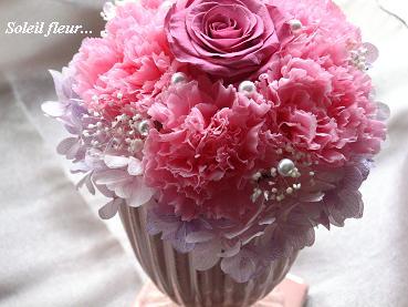 母の日ギフト☆幸せ運ぶマドレーヌピンクのアレンジ♪_c0098807_2032032.jpg