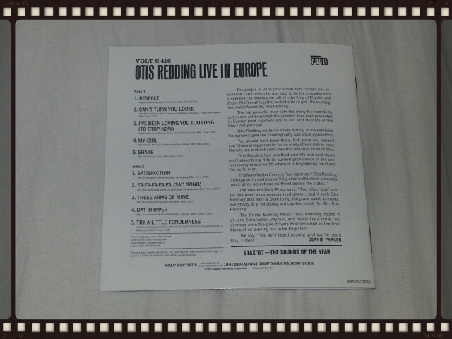 OTIS REDDING LIVE IN EUROPE_b0042308_11324496.jpg