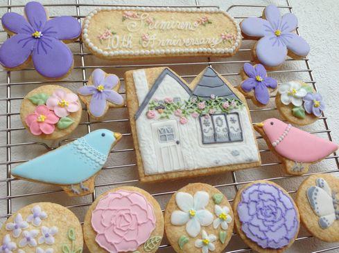 菫埜さん10周年お祝いクッキーセット。_a0274443_8531213.jpg