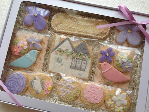 菫埜さん10周年お祝いクッキーセット。_a0274443_8582699.jpg