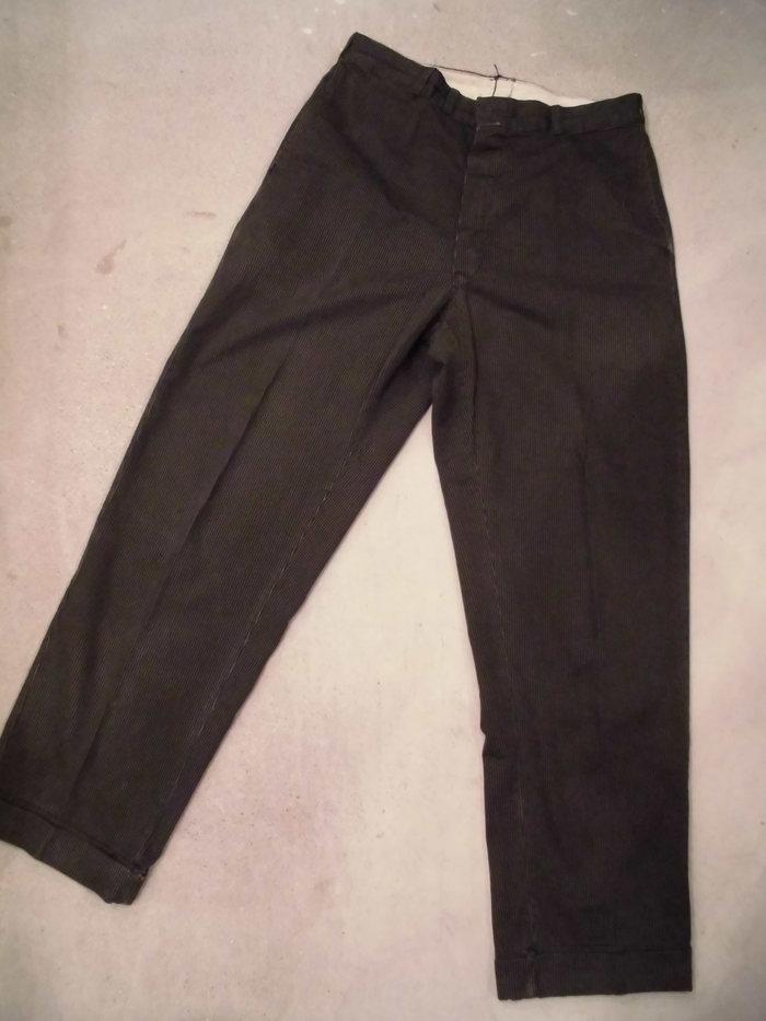 VINTAGE Buckle Back Stripe Work Trousers_e0187362_1301334.jpg