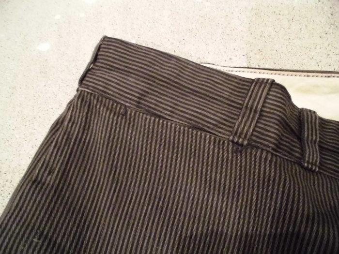 VINTAGE Buckle Back Stripe Work Trousers_e0187362_1303739.jpg