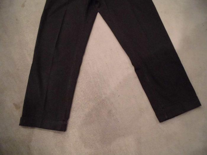 VINTAGE Buckle Back Stripe Work Trousers_e0187362_1313399.jpg