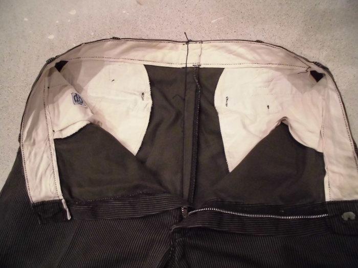 VINTAGE Buckle Back Stripe Work Trousers_e0187362_131536.jpg