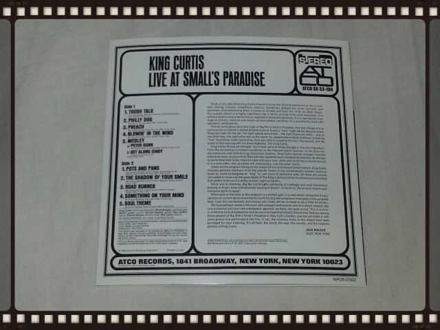 KING CURTIS / LIVE AT SMALL\'S PARADISE_b0042308_22135082.jpg