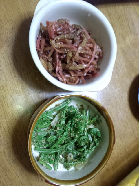 食卓に並ぶ山菜 (4月29日)_f0101226_16594939.jpg