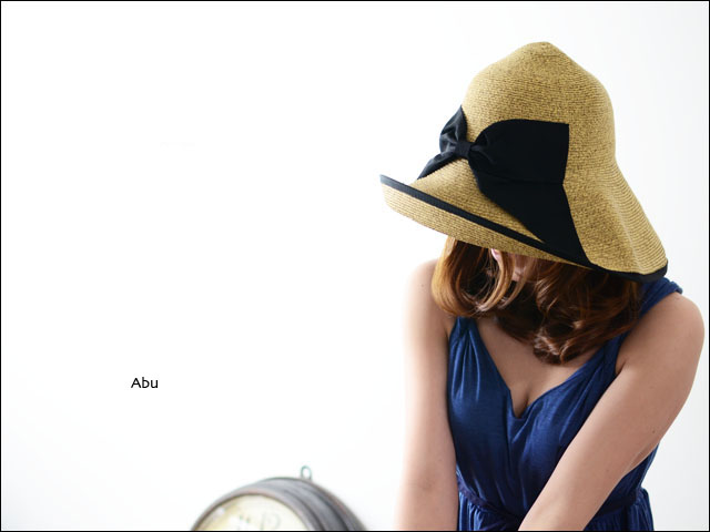 abu [アブ] PIPING RIBBON HAT [NH-008P]_f0051306_23355852.jpg