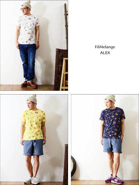 Filmelange [フィルメランジェ] ALEX/アレックス 柄Tシャツ [FML-002484]_f0051306_23392052.jpg