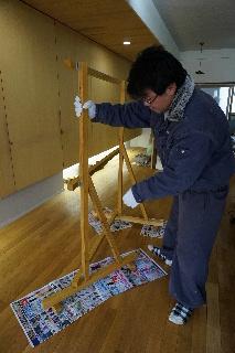 東家さんの顔出し看板作成_f0105112_1854244.jpg