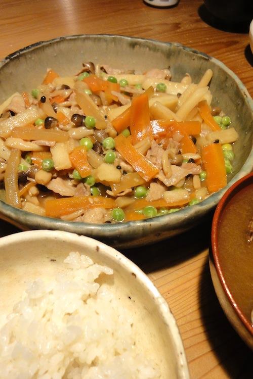 根菜と豚バラのうま煮_f0054859_1221253.jpg