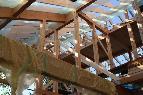 Q1住宅X-3寒川:軸組、小屋組_e0054299_14245528.jpg